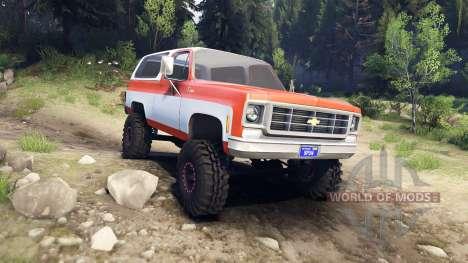 Chevrolet K5 Blazer 1975 orange and white pour Spin Tires