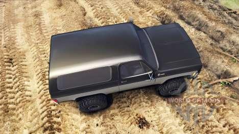 Chevrolet K5 Blazer 1975 black and silver für Spin Tires