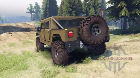 Hummer H1 army green pour Spin Tires