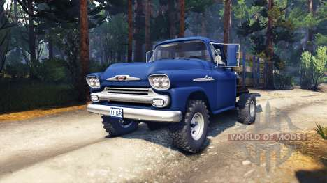 Chevrolet Apache 1959 Fleetside v1.1 für Spin Tires