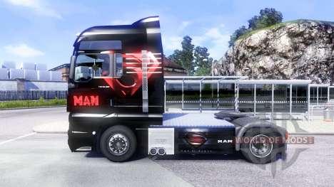 La peau de l'Homme D'Acier sur le camion de l'HO pour Euro Truck Simulator 2
