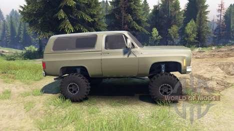 Chevrolet K5 Blazer 1975 army green pour Spin Tires