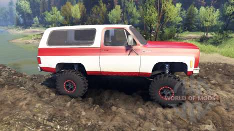 Chevrolet K5 Blazer 1975 red and white für Spin Tires