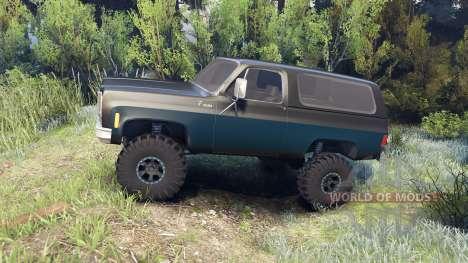 Chevrolet K5 Blazer 1975 black and blue pour Spin Tires