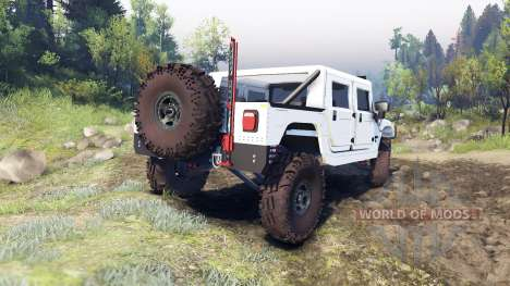 Hummer H1 white pour Spin Tires