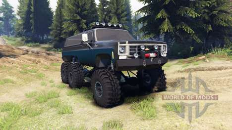 Chevrolet K5 Blazer 1975 Equipped black and blue für Spin Tires