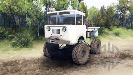 Jeep FC white pour Spin Tires