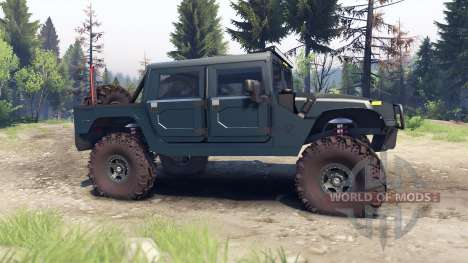 Hummer H1 ocean blue für Spin Tires