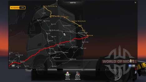 Karte Von Russland - RusMap für Euro Truck Simulator 2