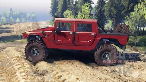 Hummer H1 fire house red für Spin Tires