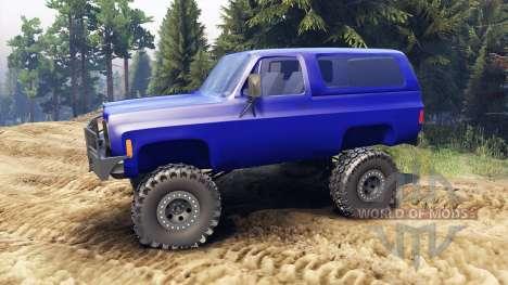 Chevrolet K5 Blazer 1975 v1.5 blue für Spin Tires