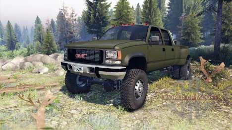 GMC Suburban 1995 Crew Cab Dually green pour Spin Tires