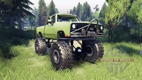 Dodge D200 green pour Spin Tires
