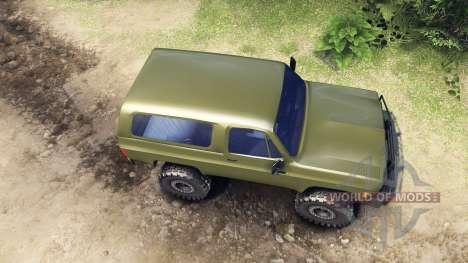 Chevrolet K5 Blazer 1975 v1.5 green pour Spin Tires