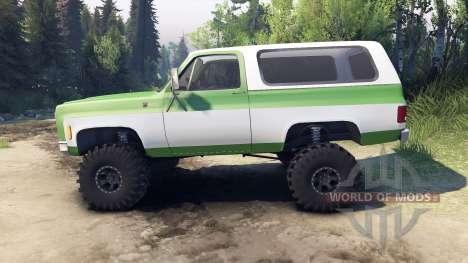 Chevrolet K5 Blazer 1975 green and white für Spin Tires