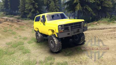 Chevrolet K5 Blazer 1975 v1.5 yellow pour Spin Tires