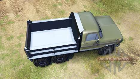 Ford F-100 6x6 v2.0 pour Spin Tires