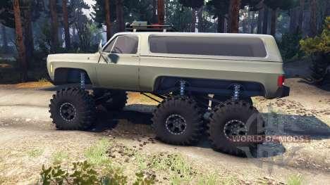 Chevrolet K5 Blazer 1975 Equipped 6x6 army green für Spin Tires