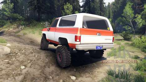Chevrolet K5 Blazer 1975 orange and white für Spin Tires