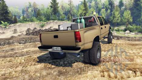 GMC Suburban 1995 Crew Cab Dually tan pour Spin Tires