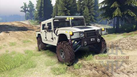 Hummer H1 army tan pour Spin Tires
