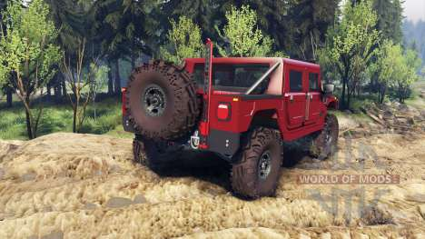 Hummer H1 fire house red pour Spin Tires