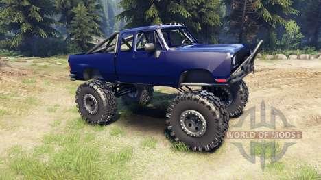 Dodge D200 blue pour Spin Tires