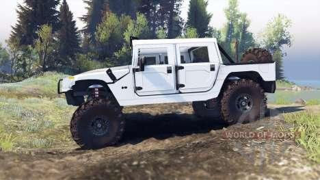 Hummer H1 white für Spin Tires