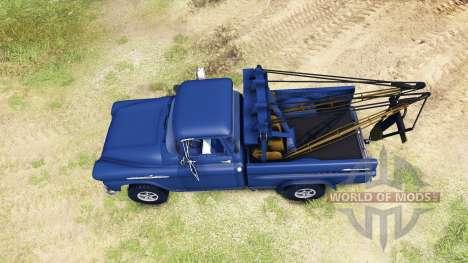Chevrolet Apache 1959 Fleetside pour Spin Tires