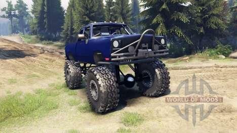 Dodge D200 blue für Spin Tires