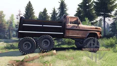 Ford F-100 6x6 v1.1 rusty pour Spin Tires