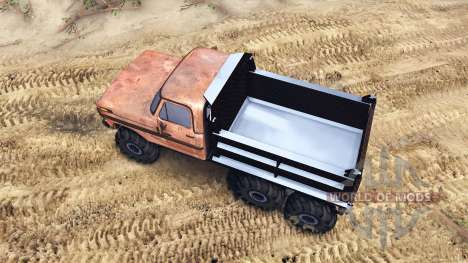 Ford F-100 6x6 v2.0 rusty pour Spin Tires