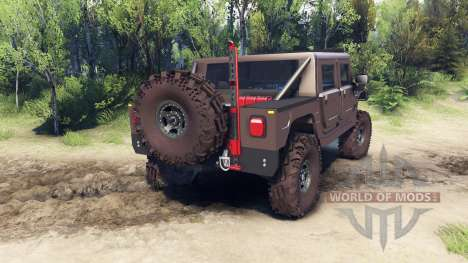 Hummer H1 metalic pewter pour Spin Tires