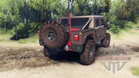 Hummer H1 metalic pewter für Spin Tires