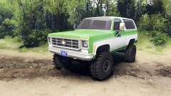 Chevrolet K5 Blazer 1975 green and white