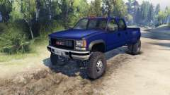 GMC Suburban 1995 Crew Cab Dually blue