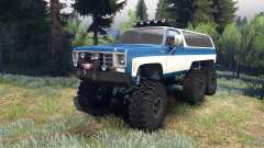 Chevrolet K5 Blazer 1975 Equipped blue and white