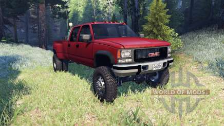 GMC Suburban 1995 Crew Cab Dually red pour Spin Tires