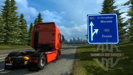 La Russie Carte - Orient Express pour Euro Truck Simulator 2