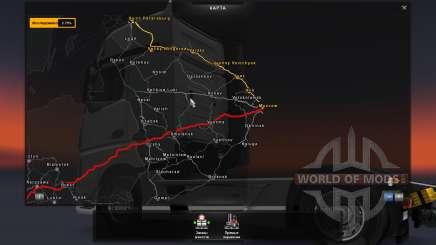 Carte De La Russie - RusMap pour Euro Truck Simulator 2