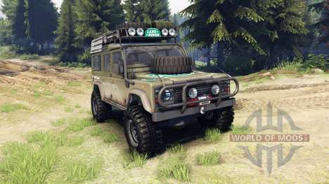 Land Rover Defender 110 pour Spin Tires