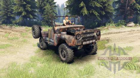 UAZ-469 rusty für Spin Tires