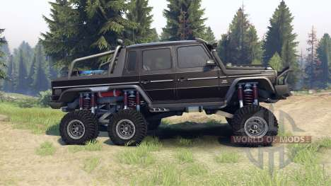 Mercedes-Benz G65 AMG 6x6 Final brilliant black für Spin Tires