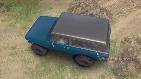 International Scout II 1977 bimini blue poly für Spin Tires