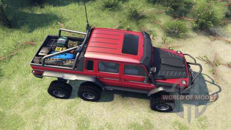 Mercedes-Benz G65 AMG 6x6 Final lemans red pour Spin Tires