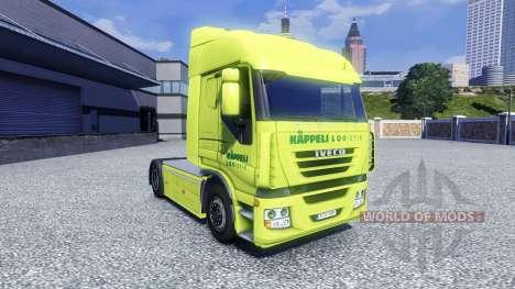 La peau Kappeli Logistik pour Iveco tracteur pour Euro Truck Simulator 2