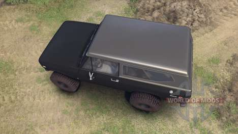 International Scout II 1977 black pour Spin Tires