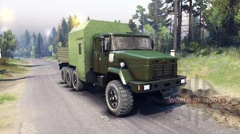 KrAZ-7140 grün für Spin Tires