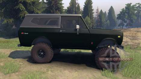 International Scout II 1977 dark green poly pour Spin Tires