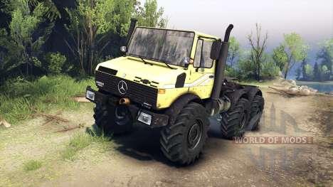 Mercedes-Benz Unimog U1500L 6х6 gelb für Spin Tires